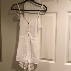 White Backless Romper Size 2
